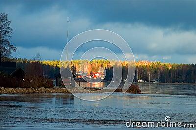 Finnish lake landscape