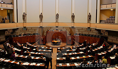 Finnish Parliament Editorial Photo