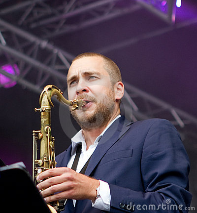 Finnish saxophonist Timo Lassy Editorial Photography
