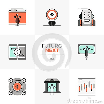 Free Fintech Industry Futuro Next Icons Stock Images - 122198524