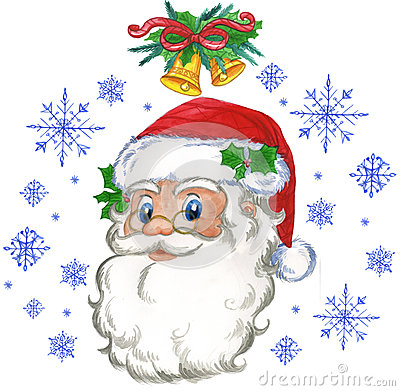 Fiocchi della neve e del Babbo Natale