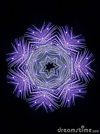Fiocco di neve del fuoco d artificio