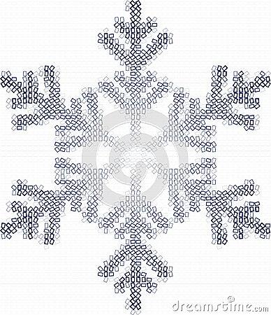 Fiocco e quadrati della neve