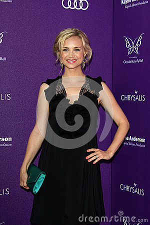 Fiona Gubelmann arriving at 11th Annual Chrysalis Butterfly Ball Editorial Stock Image