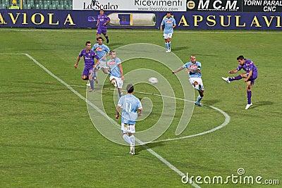 Fiorentina vs Napoli, D Agostino scores 1-1 Goal Editorial Photography