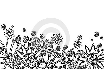 Fiori disegnati a mano immagine stock immagine 5588151 for Fiori disegnati