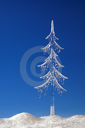 Fir tree from icicle