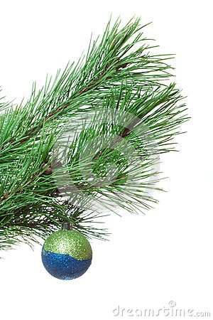 Fir-twig with christmas ball