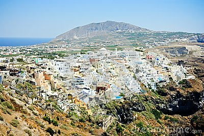 Fira - the capital of santorini island
