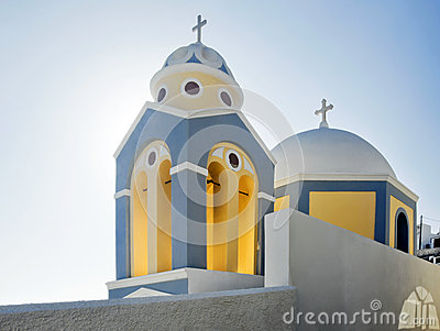 Fira church cupolas