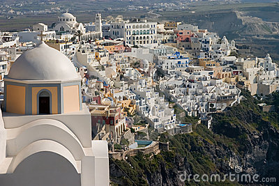 Fira and Church, Santorini.