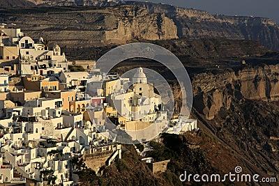 Fira, city in Greece island Santorini