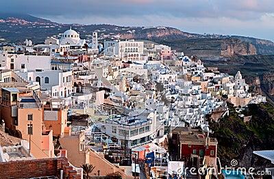 Fira city at Santorini island in Greece