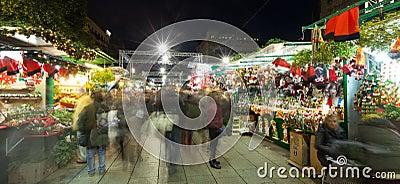 Fira de Santa Llucia - Christmas market in Barcelona Editorial Photography