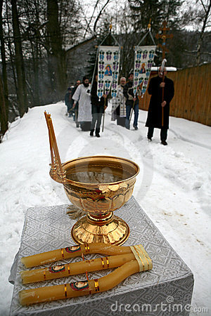 Fira epithany ortodoxt för kristen Redaktionell Foto