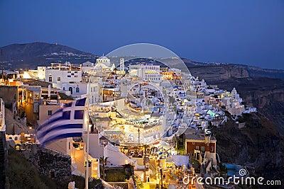 Fira main town, Santorini, Greece