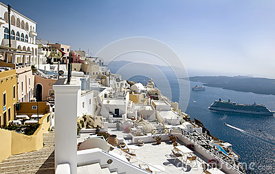Fira panorama 2 with caldera view