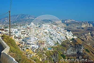 Fira panorama 2 at Santorini, Greece