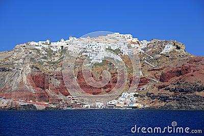 Fira town at Santorini island