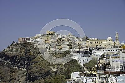 Fira village scenic view