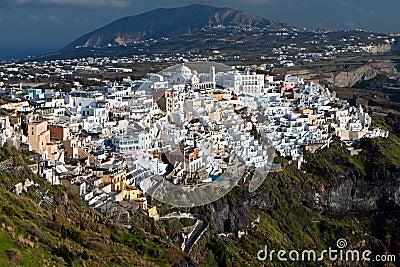爱琴海城市cyclades fira希腊海岛santorini海运.图片