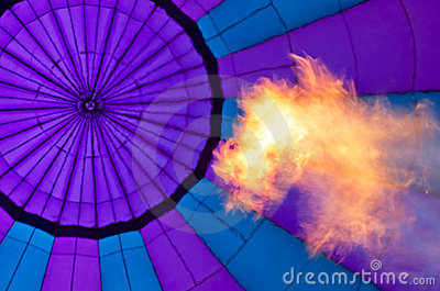 Fire and Abstract of purple balloon
