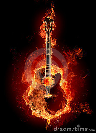 Free Fire Acoustic Guitar Stock Image - 7219451