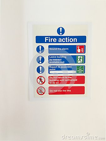Free Fire Action Office Workplace Safety Rules Information Stock Images - 125080984