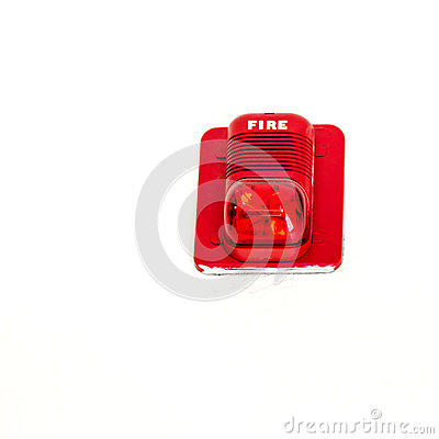 fire alarm with built in strobe light alert in case of fire stock. Black Bedroom Furniture Sets. Home Design Ideas