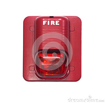 Fire Alarm With Built In Strobe Light To Alert In Case Of Fire ...