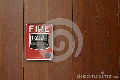 Fire alarm manual pull station.