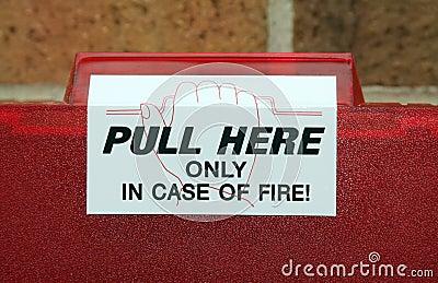 Fire alarm pull