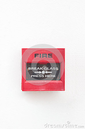 Fire Alarm On White Wall.