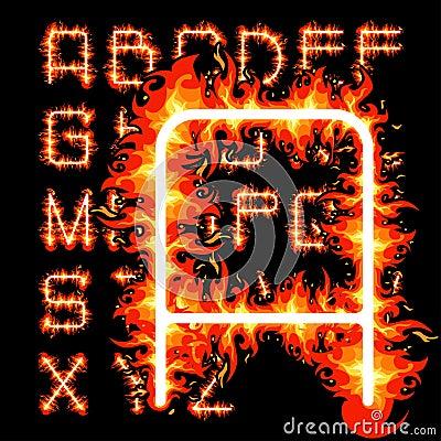 Fire alphabet
