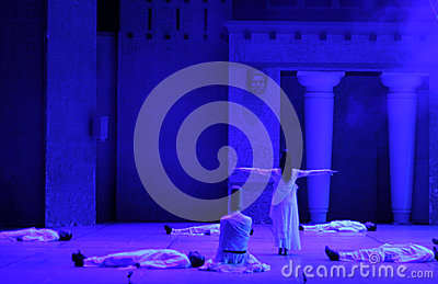 Fire of Anatolia. Performance in the amphitheater Editorial Photography