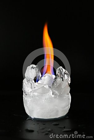 Free Fire And Ice Cold Hot Stock Photography - 103623722