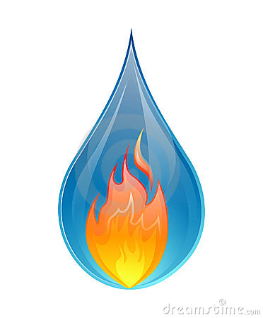 Free Fire And Water Concept - Vector Stock Image - 23306001