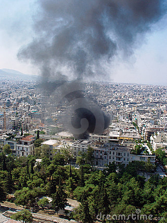 Fire in Athen