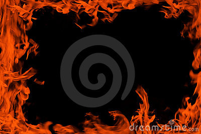 Fire background frame