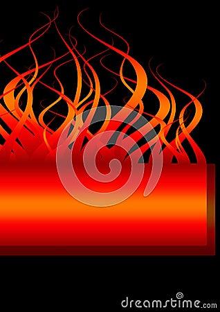 Fire banner flames
