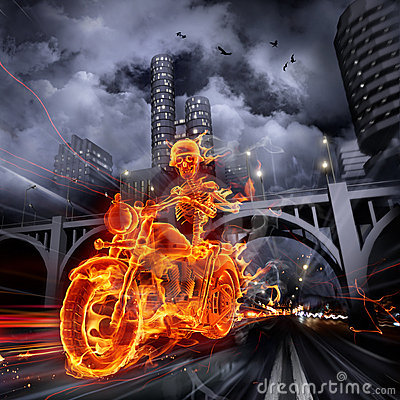 Free Fire Biker Stock Images - 17907884