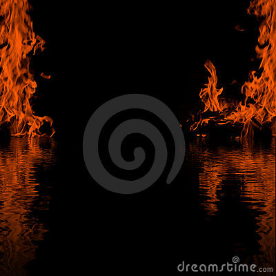 Fire black frame background
