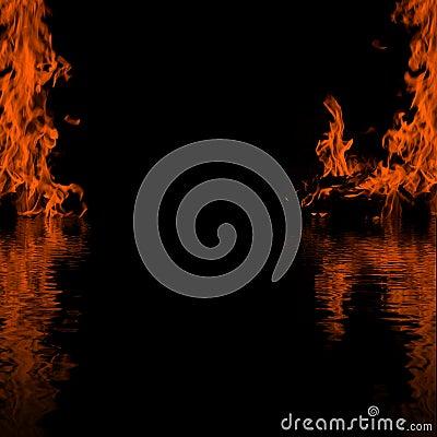 Fire black frame background