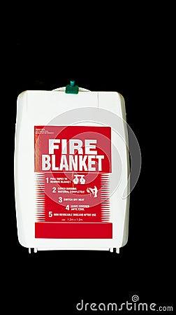 A fire blanket