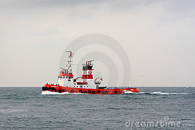 Fire Boat Editorial Stock Photo
