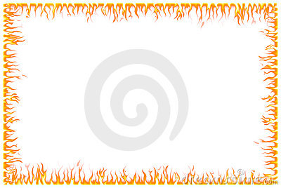 Abstract fire border - computer generated with adobe photoshop.