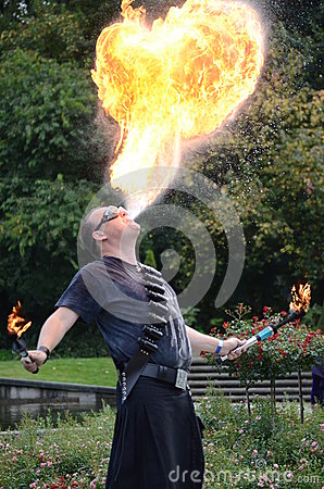 Fire breather Editorial Image