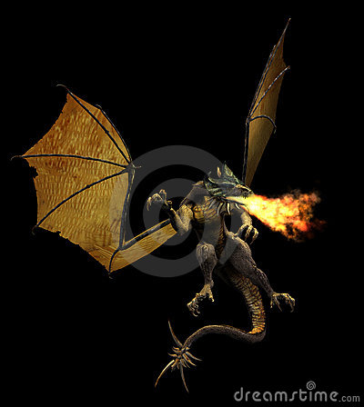 Free Fire Breathing Dragon Royalty Free Stock Photography - 497037