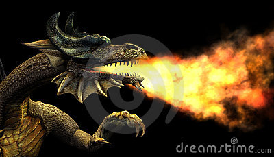 Fire Breathing Dragon Portrait