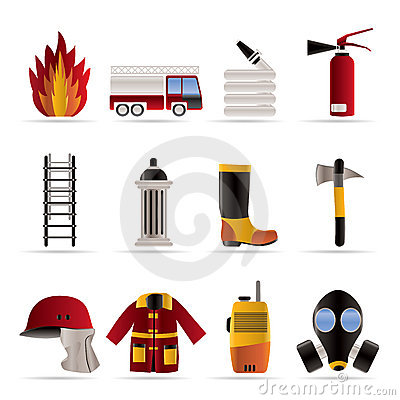 Free Fire-brigade And Fireman Equipment Icon - Vector I Stock Image - 11123441